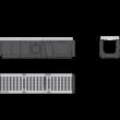 ALCAPLAST AVZ103-R201 Kültéri folyóka 100 mm fém peremmel és öntöttvas ráccsal D400