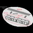 ALCAPLAST AVZ104-R402 Kültéri folyóka 100 mm műanyag peremmel és kompozit ráccsal B125