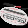 ALCAPLAST AVZ103-R104 Kültéri folyóka 100 mm fém peremmel és horganyzott ráccsal C250