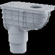 ALCAPLAST AGV4 Univerzális esővíz elvezető 300×155/125/110 mm, függőleges, fekete