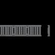 ALCAPLAST AVZ103-R202 Kültéri folyóka 100 mm fém peremmel és öntöttvas ráccsal C250
