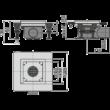 ALCAPLAST APV120 Rozsdamentes padlóösszefolyó alacsony 130×130 mm vízszintes, rács nélkül, vizes bűzzár
