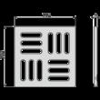ALCAPLAST MPV011 Rozsdamentes rács a rozsdamentes padlóösszefolyókhoz 102×102 mm