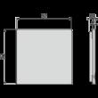 ALCAPLAST MPV013 Rozsdamentes rács a rozsdamentes padlóösszefolyókhoz 92×92 mm