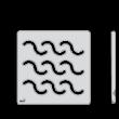 ALCAPLAST MPV002 Design rács 102×102 mm rozsdamentes