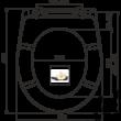 ALCAPLAST A604 FLOWER WC ülőke univerzális SOFTCLOSE, Duroplast