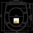 ALCAPLAST A604 SHELL WC ülőke univerzális SOFTCLOSE, Duroplast