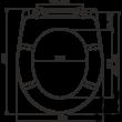 ALCAPLAST A604 PERGAMON WC ülőke univerzális SOFTCLOSE, Duroplast