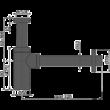ALCAPLAST A400BLACK DESIGN MOSDÓSZIFON DN32, FEKETE-MATT