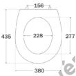 Reactiv Arena WC ülőke állítható INOX zsanérral