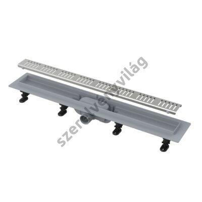 Alcaplast APZ10 Simple műanyag zuhanyfolyóka fém ráccsal vonal mintával (550-950mm)