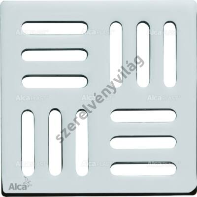ALCAPLAST MPV001 Design rács 102×102 mm rozsdamentes