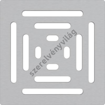 ALCAPLAST MPV012 Rozsdamentes rács a rozsdamentes padlóösszefolyókhoz 102×102 mm