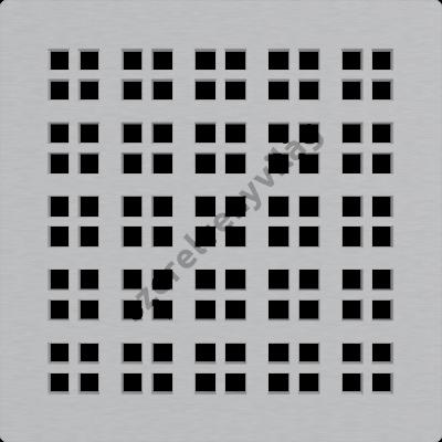 ALCAPLAST MPV015 Rozsdamentes rács a rozsdamentes padlóösszefolyókhoz 102×102 mm