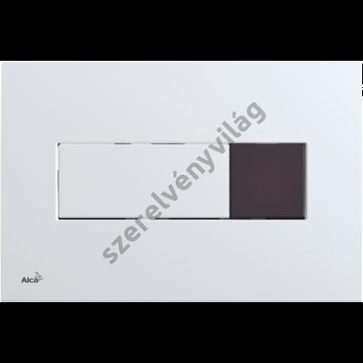 ALCAPLAST M370SB NYOMÓLAP SZENZORRAL A FALSÍK ALATTI SZERELÉSI RENDSZEREKHEZ, FEHÉR (ELEMES)