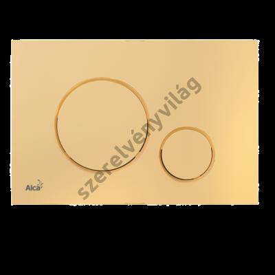 ALCAPLAST M675 Nyomólap a falsík alatti szerelési rendszerekhez, arany