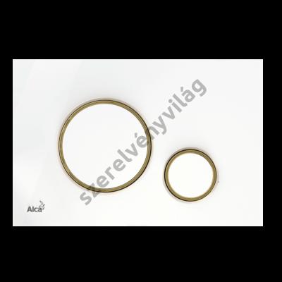ALCAPLAST M775 Nyomólap a falsík alatti szerelési rendszerekhez, fehér/arany