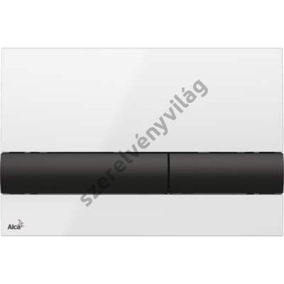 ALCAPLAST M1710 Nyomólap a falsík alatti szerelési rendszerekhez, fehér/fekete