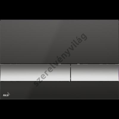 ALCAPLASR M1728-2 NYOMÓLAP A FALSÍK ALATTI SZERELÉSI RENDSZEREKHEZ, FEKETE/KRÓM-MATT