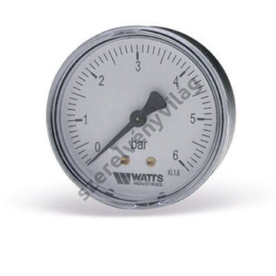 WATTS F+R100 (MAL) nyomásmérő hátsó csatlakozással (50mm-es, 60mm-es)