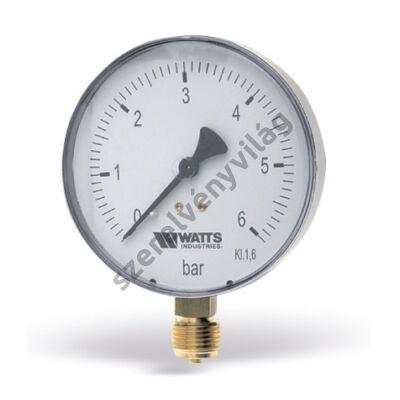 WATTS F+250 (MRS) nyomásmérő alsó csatlakozással (100 mm-es)