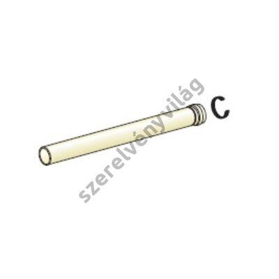 FONDITAL D 80 egyenes cső 1 m