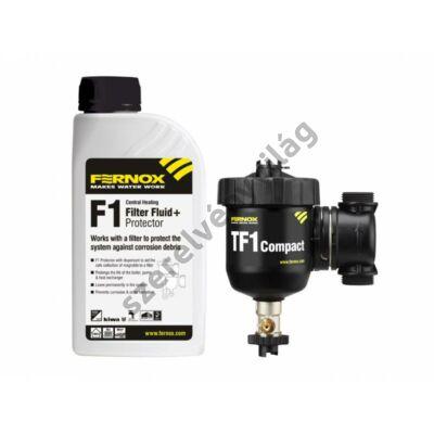 """FERNOX TF1 COMPACT """"kis helyigényű"""" nagy teljesítményű mágneses vízszürő 22mm, 3/4"""""""