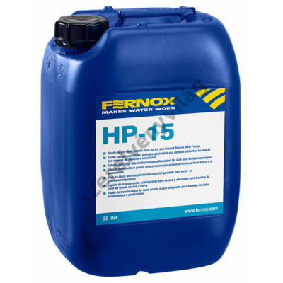 FERNOX HP-15 hőátadó folyadékl evegő-víz és föld levegő hőszivattyúkhoz -15°C-ig 25L-1000L