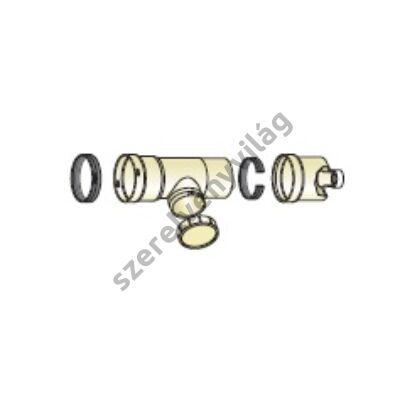 FONDITAL D 80+80 ellenőrző T-idom kondenzátum gyűjtővel