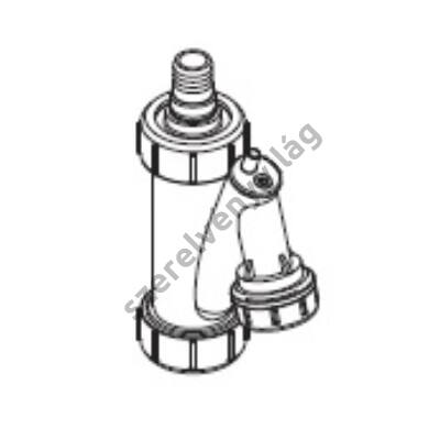 FONDITAL D 100 kondenzszifon függőleges csatlakozással