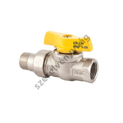 """FLEXUM MOFÉM gáz gömbcsap kb toldattal (külső-belső menettel hollandis csatlakozással) 1/2""""-tól 1""""-ig"""