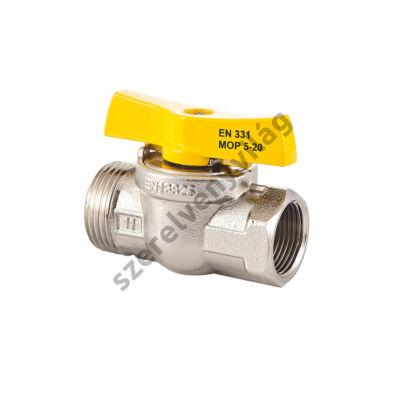 """FLEXUM MOFÉM gáz gömbcsap kb (külső-belső menettel, toldat nélkül) 1/2""""-tól 1""""-ig"""