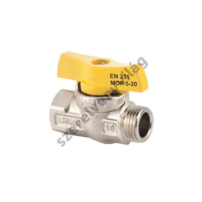 """FLEXUM MOFÉM gáz gömbcsap kb fix (külső-belső menettel) 1/2""""-tól 3/4""""-ig"""