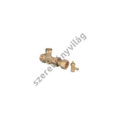 NOVASFER szerviz szelep tágulási tartályhoz, töltő-ürítő csonkkal, ART 843
