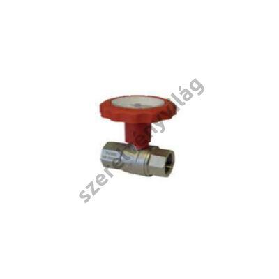 NOVASFER hőmérős golyóscsap, hosszított kivitel, B-B, ART 740/TE