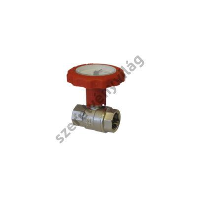 NOVASFER hőmérős golyóscsap, rövid kivitel, B-B, ART 840/TE