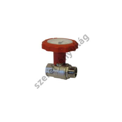 NOVASFER hőmérős golyóscsap, rövid kivitel, K-B fix, ART 845/TE