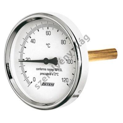 SITEM  precíziós hőmérő hátsó csatlakozással 63mm/100mm 120°C