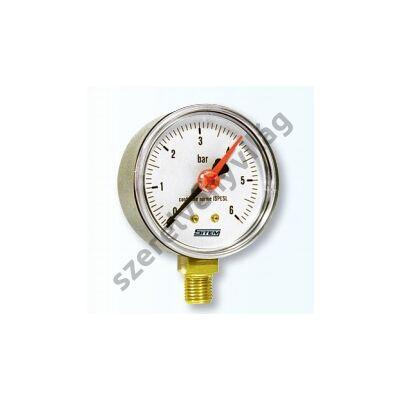SITEM manométer/nyomásmérő alsó csatlakozással 63 mm-es