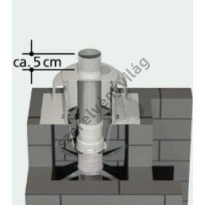 TRICOX D 80 mm-es UV-álló cső kürtőfedélhez 0,34 m-es