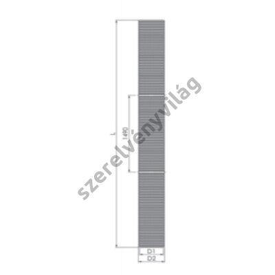 TRICOX D 80 mm-es flexibilis füstcső 25 m (PPS)