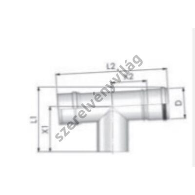 TRICOX D 80 mm-es ellenőrző T-idom