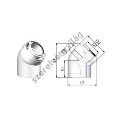 TRICOX D 80/125 mm-es könyök 45°(2db/csomag)