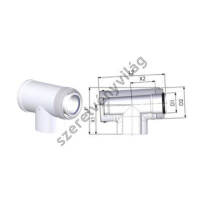 TRICOX D 60/100 mm-es ellenörző T-idom