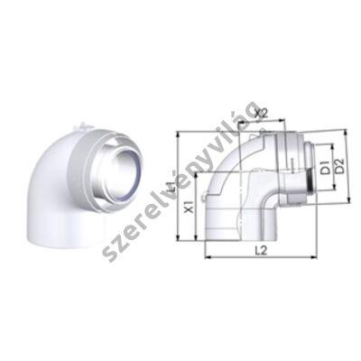 TRICOX D 80/125 mm-es ellenőrző könyök 90°