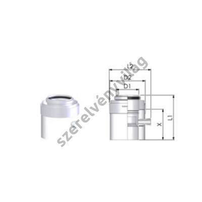 TRICOX D 80/125 mm-es kondenzátum leválasztó