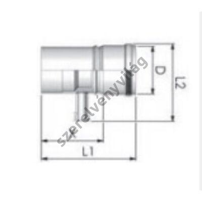 TRICOX D 80 mm-es kondenzátum leválasztó