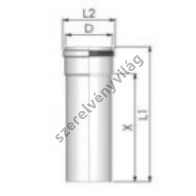 TRICOX D 80 mm-es cső 250 mm