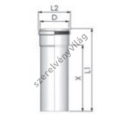 TRICOX D 80 mm-es cső 1,95 m